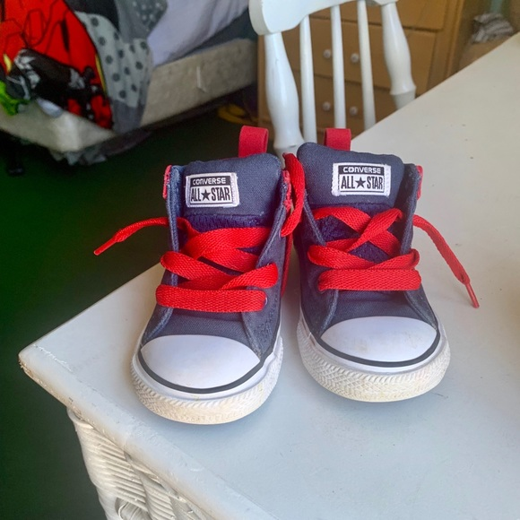 Converse Other - Navy/Red Toddler Converse
